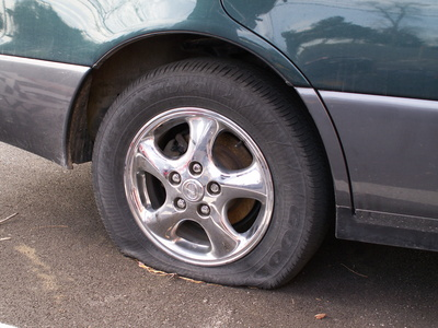 Car Accident Caused By Flat Tire