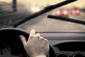 Bad weather can ruin your visibility; driving behind a big rig or bus can make it worse.