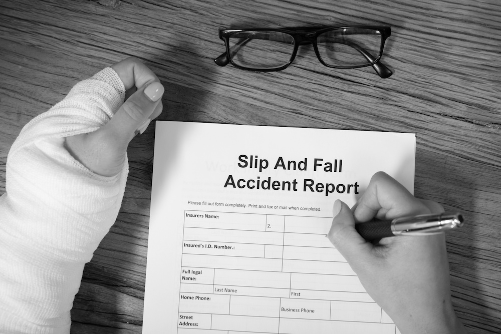 slip and fall report